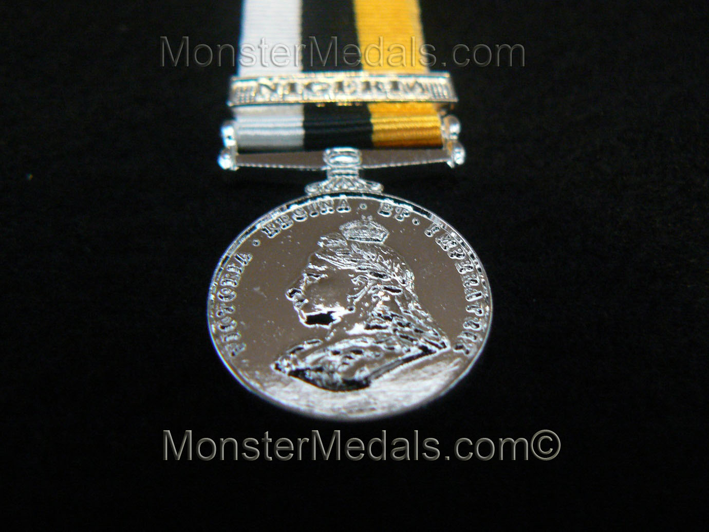 MINIATURE ROYAL NIGER COMPANY MEDAL WITH CLASP NIGERIA